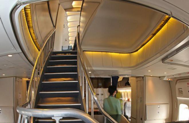 """В Boeing 747 """"Трансаэро"""" класс """"Империал"""" оборудован на втором этаже"""