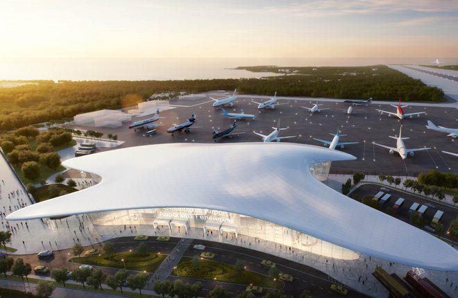 Будущий терминал аэропорта Геленджик