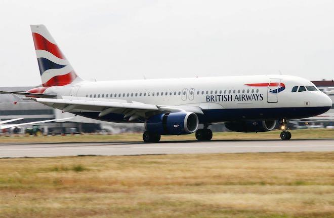 самолет A320 авиакомпании British Airways