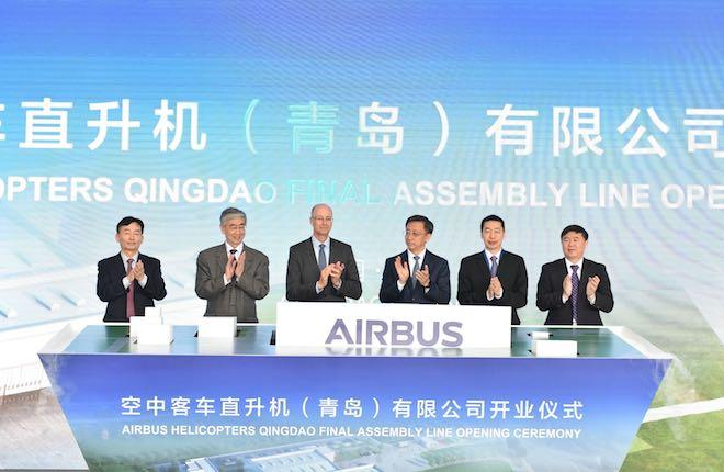 Церемония открытия линии финальной сборки вертолетов Airbus в Китае
