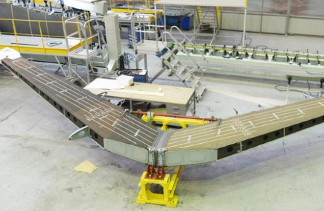 Готов первый кессон стабилизатора для самолета МС-21
