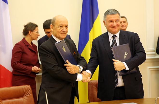 Подписание протокола между МВД Украины и Министерством Европы и иностранных дел Франции