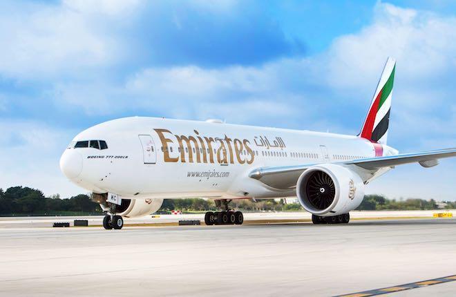самолет Boeing 777 авиакомпании Emirates
