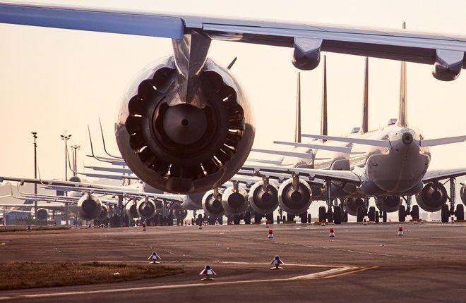 самолеты на хранении в аэропорту Франкфурт