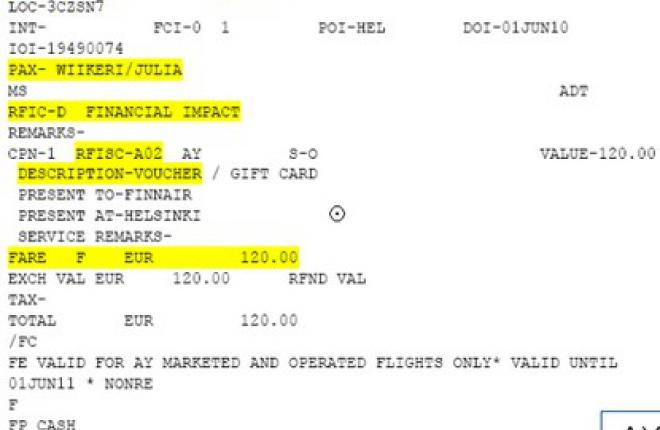 Electronic Miscellaneous Document (EMD) может заменить e-Ticket