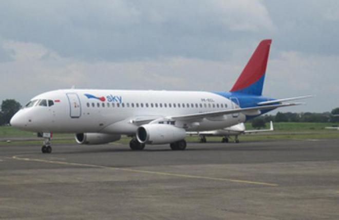 В Индонезию прибыл первый самолет Sukhoi Superjet 100 авиакомпании Sky Aviation