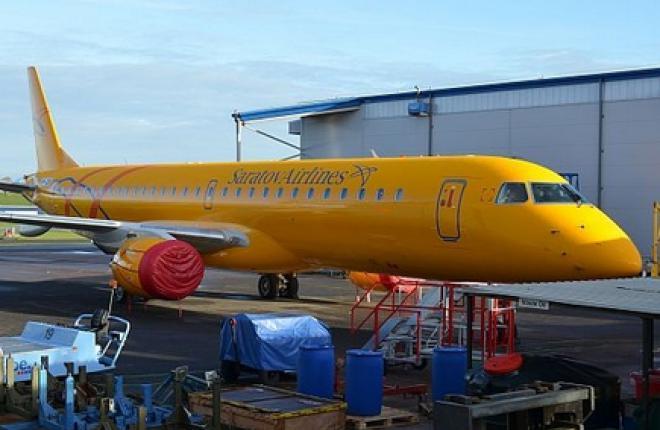 """Авиакомпания """"Саратовские авиалинии"""" получила первый Embraer E-195"""