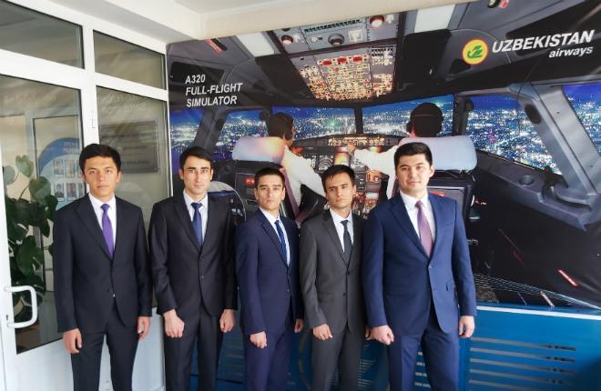 Первый набор слушателей курсов первичной подготовки пилотов в Узбекистане, на базе Aviation Training Center