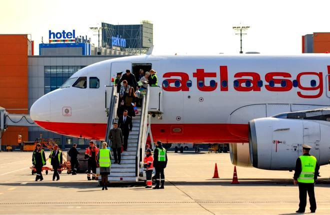 Первый рейс AtlasGlobal в Шереметьево