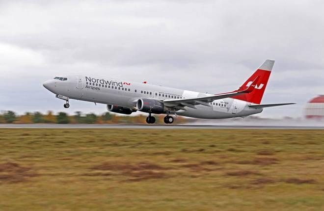 """Boeing 737-800 авиакомпании NordWind (""""Северный ветер"""")"""