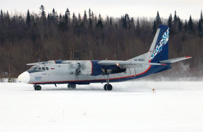 """Самолет Ан-24 авиакомпании """"Псковавиа"""""""