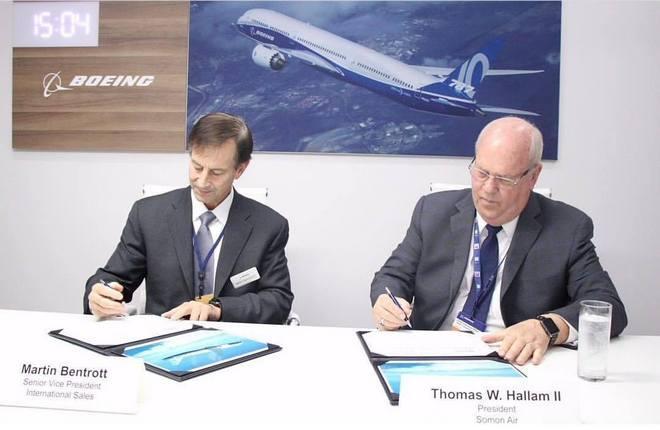 Подписание соглашения на поставку Boeing 787