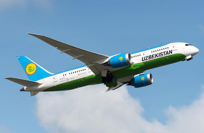 Boeing 787-8 авиакомпании Uzbekistan Airways
