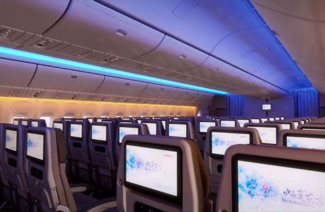 Пассажирский салон самолета