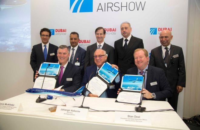 Церемония подписания контракта на авиасалоне в Дубае