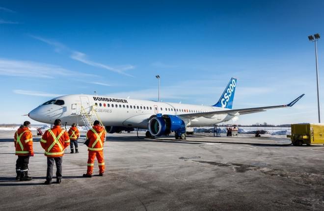 Bombardier начал сборку первого самолета CS300 для airBaltic