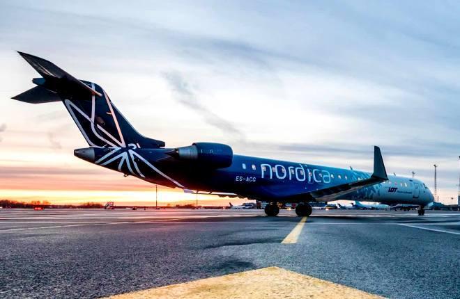 CRJ900 в ливрее Nordica