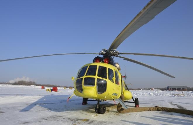 Вертолет Ми-8АМТ в Хабаровском крае