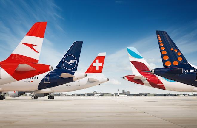 Самолеты авиакомпаний, входящих в Lufthansa Group