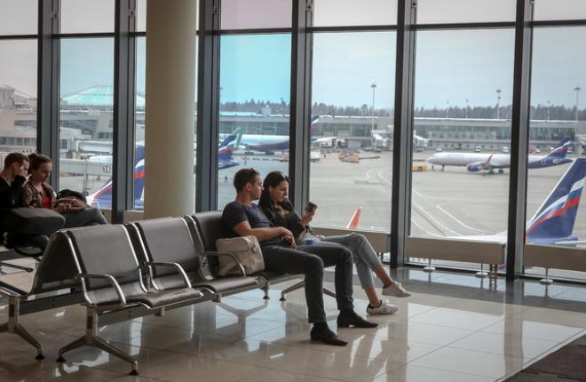 Пассажиры аэропорта Шереметьево