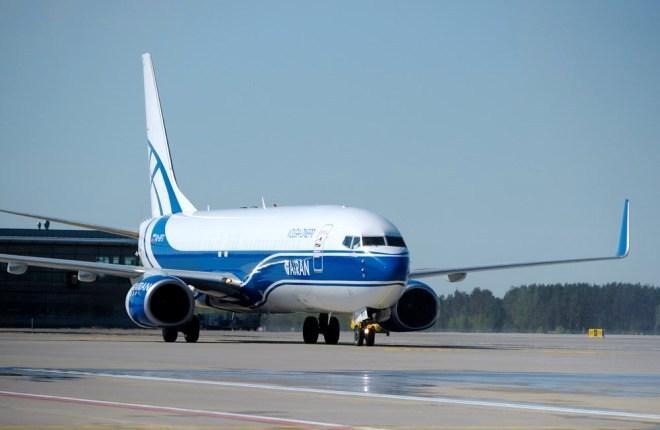 """Boeing 737-800BCF """"Атрана"""" в Китае"""