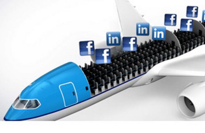 Авиакомпания KLM начнет оформлять билеты через соцсети