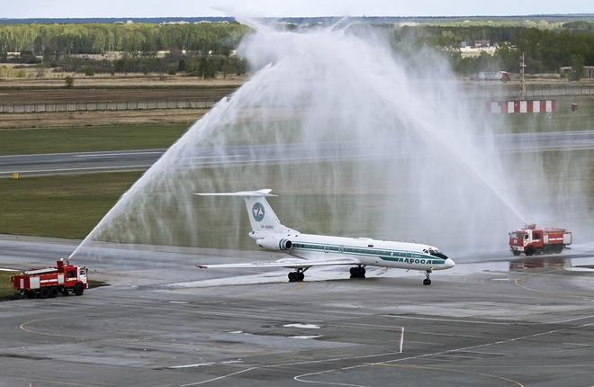 """Самолет Ту-134Б авиакомпании """"Алроса"""""""