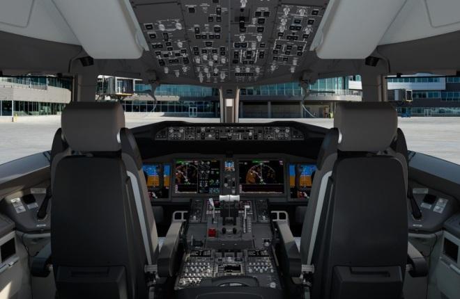 Кабина пилотов Boeing 737MAX