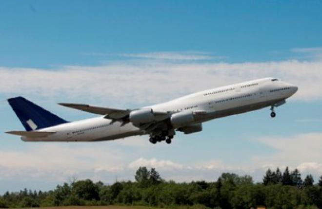 Boeing 747-8 с улучшенными характеристиками выполнил первый испытательный полет
