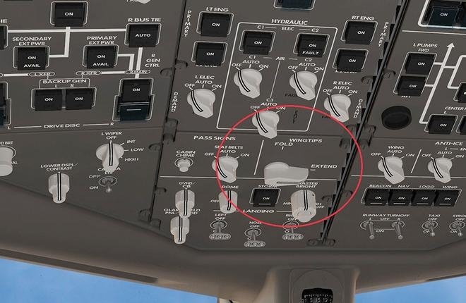 Boeing раскрыл систему управления складными законцовками крыла