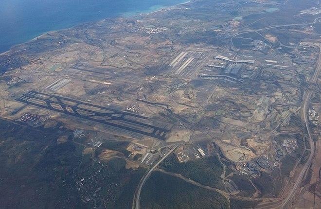 Вид на новый аэропорт сверху