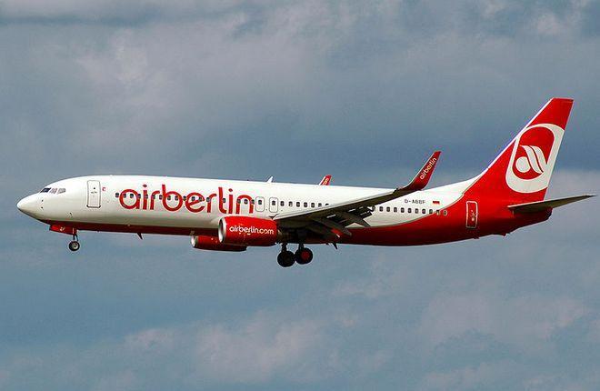 Авиакомпания Air Berlin прекратит полеты в конце октября