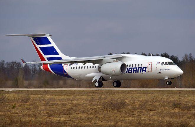Самолет Ан-158 Cubana de Aviacion