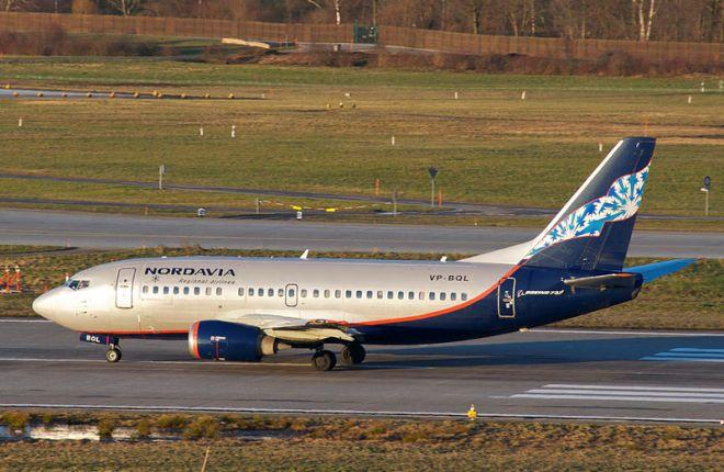 "Самолет Boeing 737-500 авиакомпании ""Нордавиа"""
