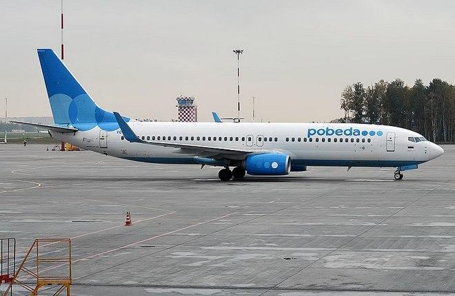 """Самолет Boeing 737-800 низкобюджетной авиакомпании """"Победа"""""""