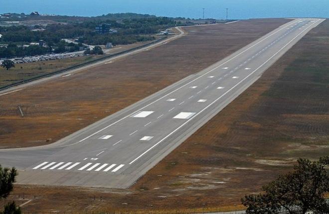 Взлетно-посадочная полоса аэропорта Геленджика