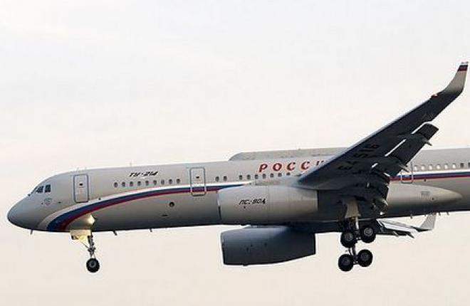 """Специальный летный отряд """"Россия"""" получил третий самолет Ту-214СР"""