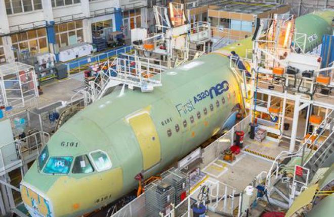 Первый самолет Airbus A320neo будет готов через месяц