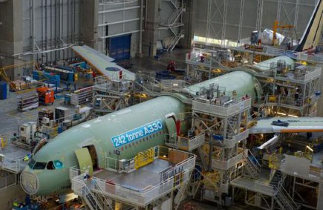 Airbus начал сборку первого A330 с увеличенной взлетной массой