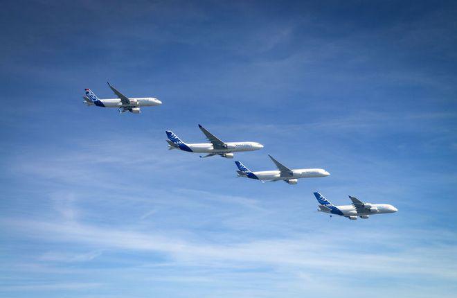 Airbus перевыполнил план поставок