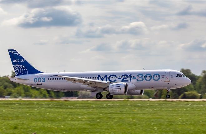 третий опытный самолет МС-21-300
