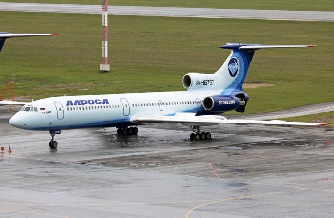 """Второй самолет  Ту-154М авиакомпании """"Алроса"""" получил новую ливрею"""