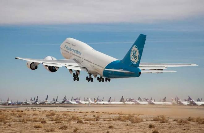 Летающая лаборатория Boeing 747 General Electric с GE9X