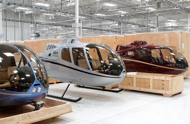 Robinson Helicopter увеличил дальность полета вертолета R66