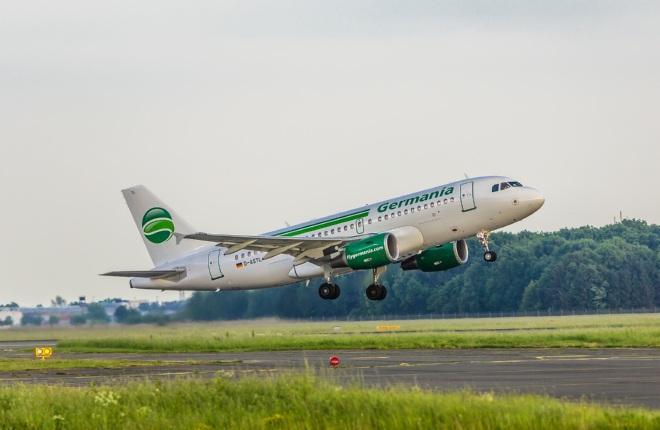 Самолет Airbus A319 авиакомпании Germania