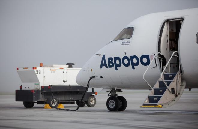 "Самолет Dash 8-400 авиакомпании ""Аврора"""