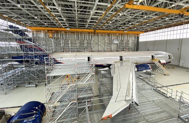 «А-Техникс» завершил проведение первого C-check на самолете Boeing 777-300ER авиакомпании «Аэрофлот» (бортовой номер VP-BGB)
