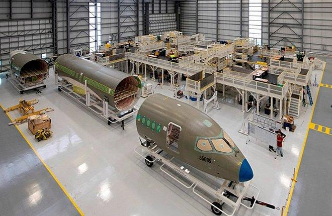 сборка Airbus A220 в США