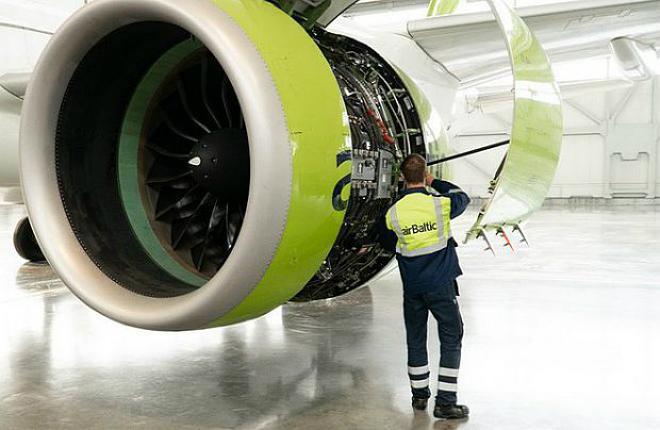 A220-300 авиакомпании airBaltic