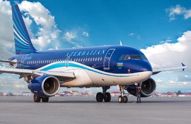 Самолет A319 авиакомпании AZAL